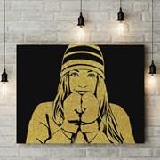 Портрет Золотой пылью на 8 марта фото