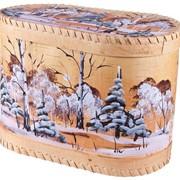 Короб из бересты Зимушка-Зима фото