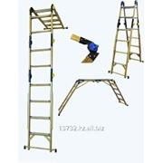 Лестница - трансформер стеклопластиковая диэлектрическая, серия Евро ЛСПТД-1,5П фото