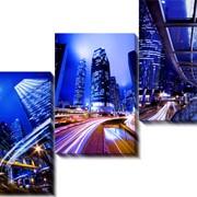 Модульная картина Ночной город_4 , Неизвестен фото