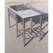 Нержавеющий стол с мойкой (усиленный) фото