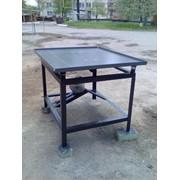 Вибростол для производства тротуарной плитки и заборов 0,95м. х 1м. фото