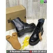 Ботинки Dr. Martens черные на платформе фото