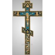 Крест напрестольный №2-10 гальванопластика золочение эмаль фото