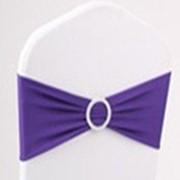 Бант на стул стрэч фиолетовый фото