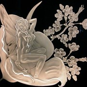 Ручная гравировка: зеркало, стекло, хрусталь, керамика, фарфор. фото