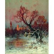 "Картина Ю. Ю. Клевера ""В парке Гатчинского дворца"" фото"