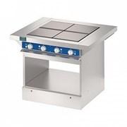 4-х конфорочная плита без жарочного шкафа          фото