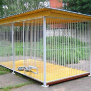 Вальер домики для собак изготовим под заказ. фото