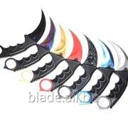 Керамбит CS GO цвета градиент, зуб тигра, красный, серебристый, черный фото