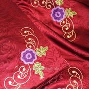 Скатерть с вышивкой 1718 фото