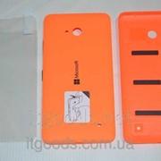 Крышка задняя оранжевая для Microsoft Lumia 640 + ПЛЕНКА В ПОДАРОК 3764 фото