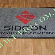 Нанесение логотипа на ворсовый грязезащитный коврик фото