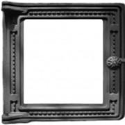 Дверка топочная крашенная со стеклом ДТ-4С фото