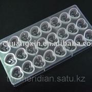 Пластиковые формы для шоколада Сердечки,формы для отливки шоколада фото