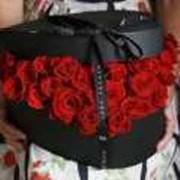 25 роз в коробке фото