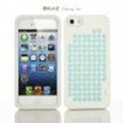 Силиконовый чехол iMobile Impression Laser Series для Apple iPhone 5/5S (Cherry / Blue) фото