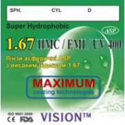 Асферические линзы с высоким индексом 1,67 стигматические SUPER HYDROPHOBIC фото