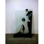 Лазерная гравировка на стекле образец 1 фото