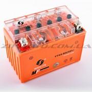 АКБ 12V 9А гелевый WEILITE 151x86x106, оранжевый фото