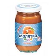 Пюре Малятко 180г персик (стекло) фото