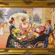 """Картина """"Продавщица цветов"""" 61х91 фото"""