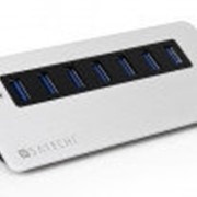 USB-хаб Satechi 7 Port USB 3.0 Premium Aluminum Hub (Black Trim) (B00CIY0KOM) фото