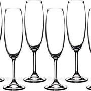 Набор бокалов для шампанского из 6шт. Клара 220мл высота 22см фото