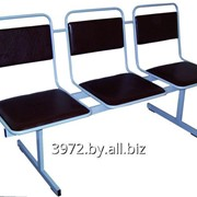 Секция стульев Бриз-3М на металлическом каркасе фото