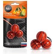 "Ароматизатор подвесной ""Баскетбол"" цитрусовый сад AIRLINE фото"