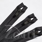 Молния пластиковая, черная, бегунок №72 - 50 см фото
