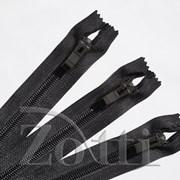 Молния пластиковая, черная, бегунок №72 - 40 см фото