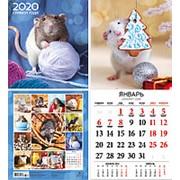 """Календарь 2020 перекидной малый квадрат Суперпостер """"Символ года"""", на скрепке, 27177 фото"""