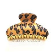 Заколка-краб Леопард микс фото
