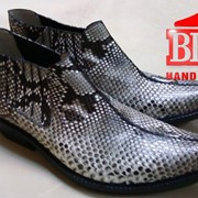 Ковбойские ботинки, кожа питона фото