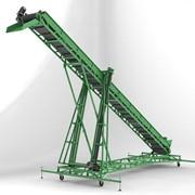 Конвейер ленточный передвижной с изменяющейся высотой разгрузки УЖИМ 564 фото