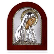 Икона Марии Silver Axion Греция с позолотой 200 х 250 мм на деревянной основе фото