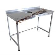 Стол производственный с отверстием для пищевых отходов фото