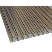 Сотовый поликарбонат 10 мм серый Novattro 2,1x12 м (25,2 кв,м), лист фото