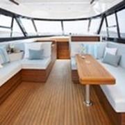 Изготовление и ремонт мягких салонов катеров и яхт фото