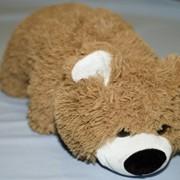 """Подушка """"Медведь"""" темный фото"""