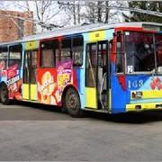 Реклама на / в транспорте (троллейбусы, маршрутки) фото