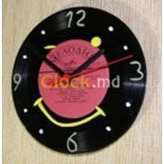 Часы из виниловой пластинки Улыбка фото