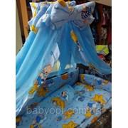 Постельное бельё в детскую кроватку 8 эл. фото