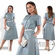 Платье женское в мелкий горох (6 цветов) - Серый PY/-357 фото