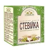 Напиток Кофейный обогащенный цикорем и стевией Стевийка (3 в 1, сливки, кофе, стевия) 100 г. фото