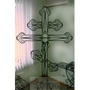 Крест кованый могильный фото
