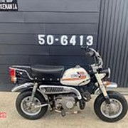 Мопед мокик Honda Monkey 4L Клатч DAX рама Z50J Minibike задний багажник пробег 2 т.км белый фото