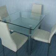 Стол обеденный из стекла DT1-077 фото