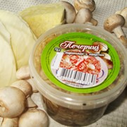 Шампиньоны маринованные с соленой капустой, Украина, купить, цена. Товар от производителя оптом.